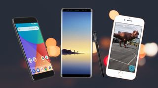 Xiaomi Mi A1, Samsung Galaxy Note8 og Apple iPhone 8.
