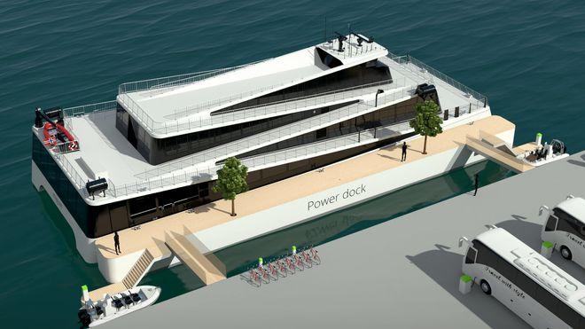 Problem ble nytt produkt: Bygger flytebrygge med batteribank for elektriske turistbåter