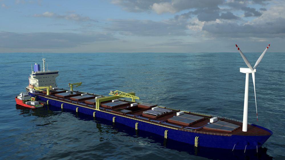 Et ombygget bulkskip på rundt 180.000-200.00 dødvekttonn skal inneholde lukkede merder med 7.800 tonn laks, slakteri og ferdigforedling av fisken. Det ankres opp med sprederanker forut og akter og skal produserer energien selv.