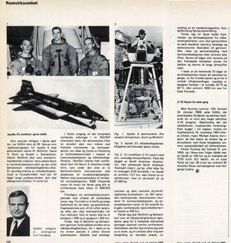 Erik Tandbergs artikkel om Apollo 9 og X-15s 199. og siste flygning.