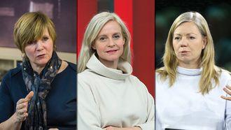 SKAL REFLEKTERE, fra venstre: Christine Meyer, Karianne Solbrække og Trine Eilertsen.