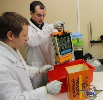 Lydfilene fra taleregistratoren (CVR) er lastet ned hos IAC i Moskva.