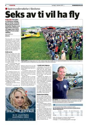 PRO-FLY: Det er liten tvil om at majoriteten av befolkningen på Skedsmo ønsker flyaktivitiet på Kjeller. Faksimile: Romerikes Blad.