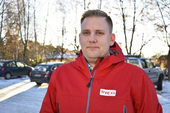 TRYGG: Kim Bergseth (35) er daglig leder i Tryg Forsikrings nye salgssenter på Kolbotn.