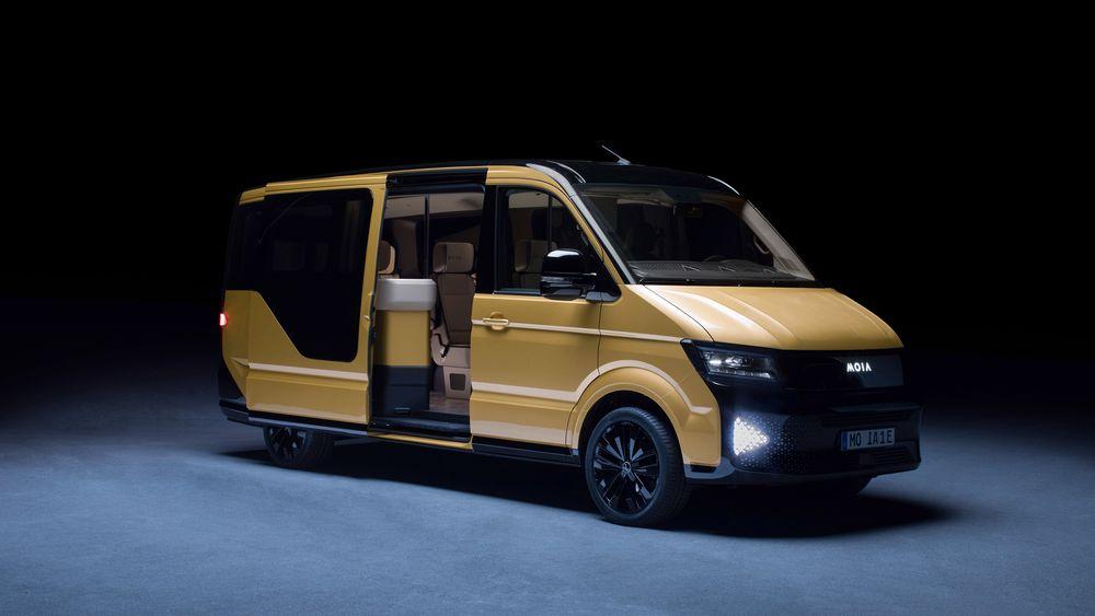 Den såkalte Moia-bilen er en elektrisk Transporter, som skal settes i trafikk neste år.