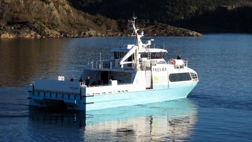 MS Frovær ble bygget av norske Båtservice. Nå vil rederiet ha pengene tilbake.