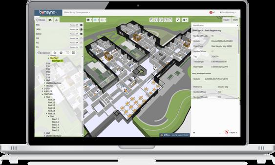 Catenda har utviklet bimsync-plattformen, som koordinerer alle digitale modeller i et byggeprosjekt.
