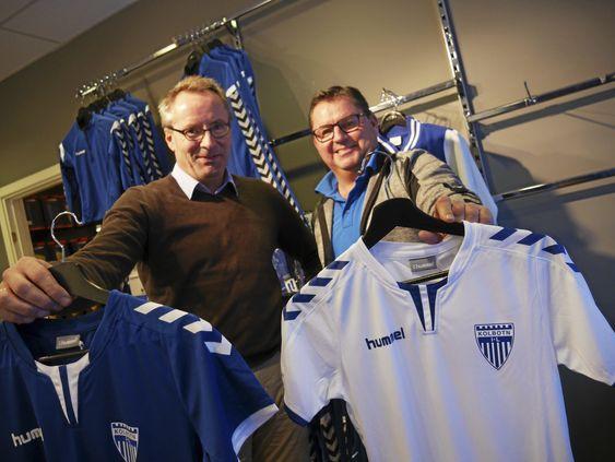 FORNØYDE: Både daglig leder i KIL, Harald Vaadal (t.v.) og innehaver Erik Eeg i Follo Sport på Sofiemyr, er glade for den nye avtalen.