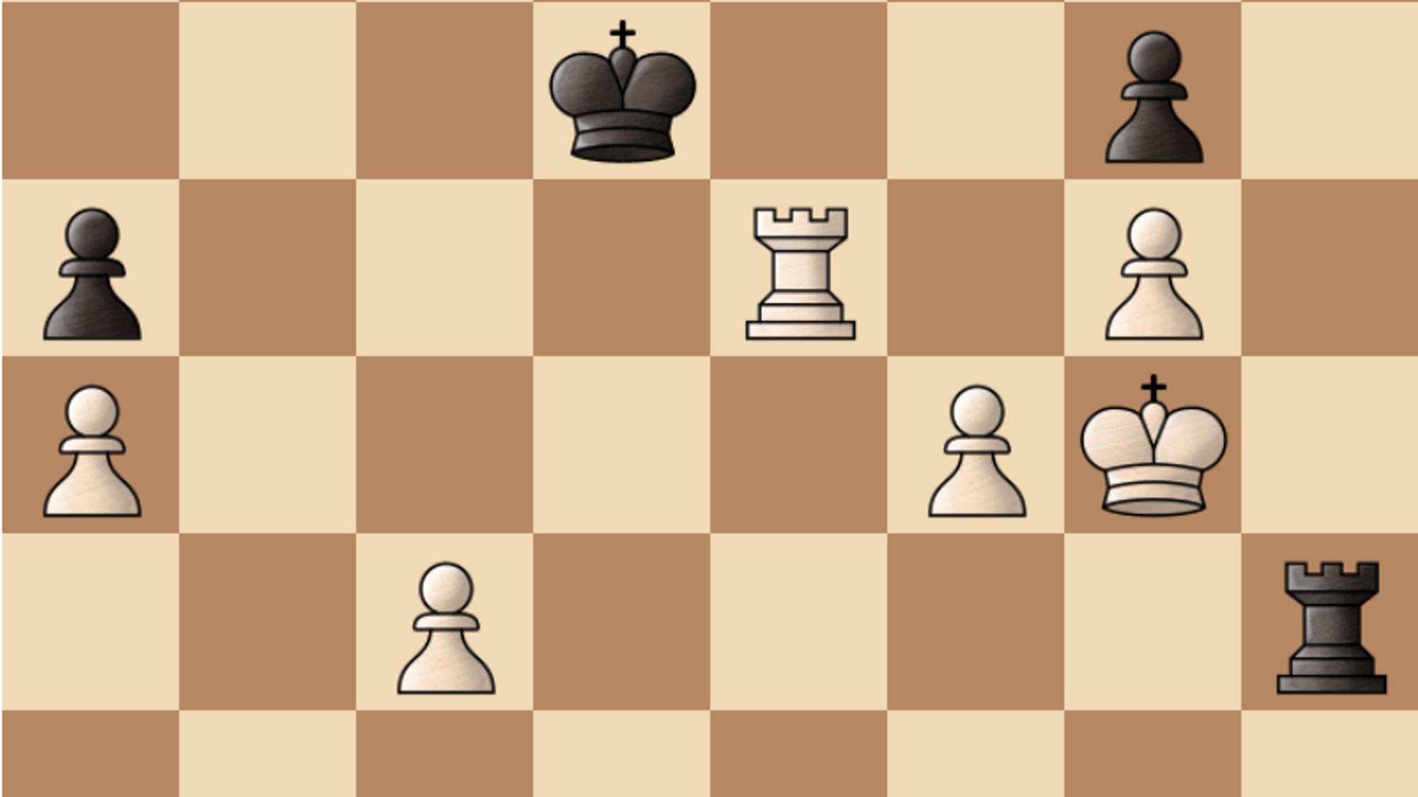 Her står AlphaZero (hvit) til vinst i parti 6.
