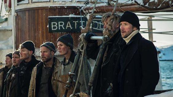 MODIGE KARAR: Mannskapet ombord på mørekuttaren «Brattholm» kryssa Nordsjøen på stormfullt hav vintertid, noko sjølv vikingane alltid ville unngå.
