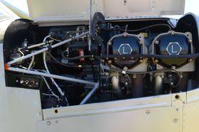 STEMPELMOTOR: YL-15 var det siste flyet med stempelmotor Boeing produserte. Motoren er av typen Lycoming O-290-7.