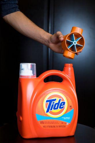 Forskerne laget denne sensoren som måler hvor mye vaskemiddel som er igjen.