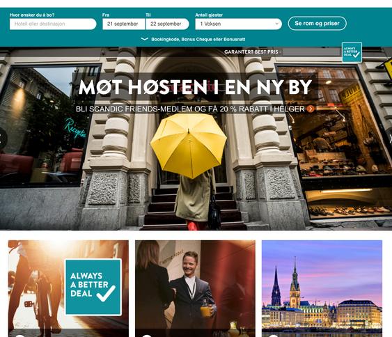 FRA TOPPEN: Nordic Choice, Thon Hotels, Best Western og Scandic Hotels.