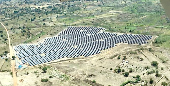 Multiconsult var også involvert i bygge denne solenergiparken i Soroti i Uganda. Foto: GET FiT Uganda.