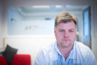 Leder Richard Aune i NRKs journalistlag NRKJ. Her fra sine kontorlokaler på Marienlyst i Oslo.