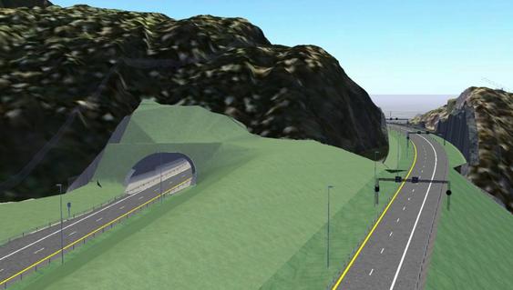 To nye felt av E16 vil gå i kort tunnel forbi Hvalpåsen.
