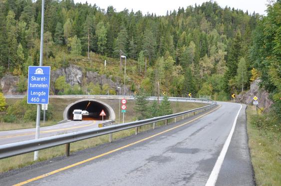 Ny E16 gjennom Hole og Ringerike starter her ved Skaret.