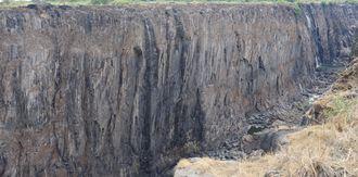 Victoria Falls i tørketiden.