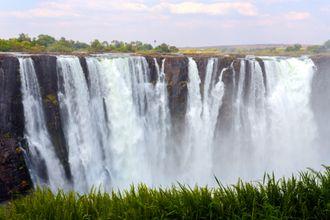 Victoria Falls slik vi pleier å se det.
