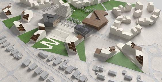 Forslag fra Niels Torp Arkitekter.