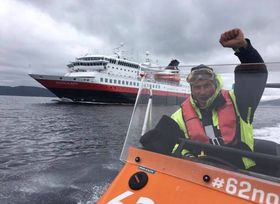 JUBEL: Slik markerer hotellkongen sitt nye samarbeid med Hurtigruten på sin egen Facebook-side.