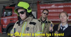 ROCKER OPP LUCIA: Sjekk de rappende og syngende brannfolkene ta sin egen vri på Lucia-sangen!