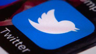 Twitter-app på mobilskjerm.