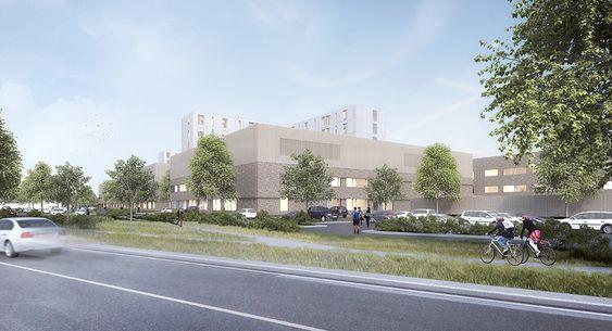 Nye Drammen sykehus.