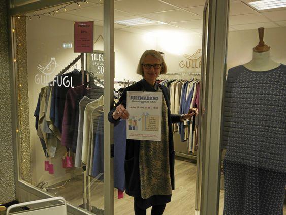 I BUTIKKEN: Elisabeth Gulling er stolt av butikken og konseptet sitt Gullfugl, og gleder seg til å vise frem både denne butikken og andres butikker på lørdag.