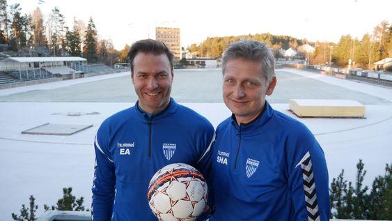 GLAD DUO: Sportslig leder Einar Engedahl er sikker på at Knut Slatleim er riktig mann for KIL i 2018.