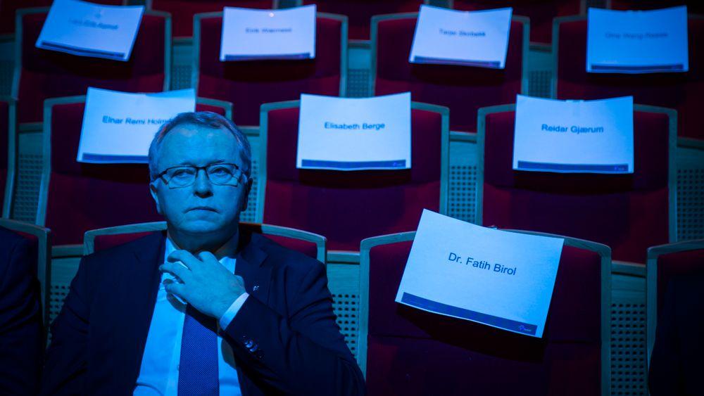 Konsernsjef i Statoil Eldar Sætre under Høstkonferansen 2017, som arrangeres av Statoil, Olje- og energidepartementet og Det internasjonale energibyrået (IEA).