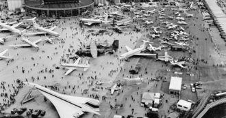 Flyutstillingen på Le Bourget i Paris i 1969.