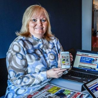 Sjefredaktør Marit Ulrichsen i Rana Blad.