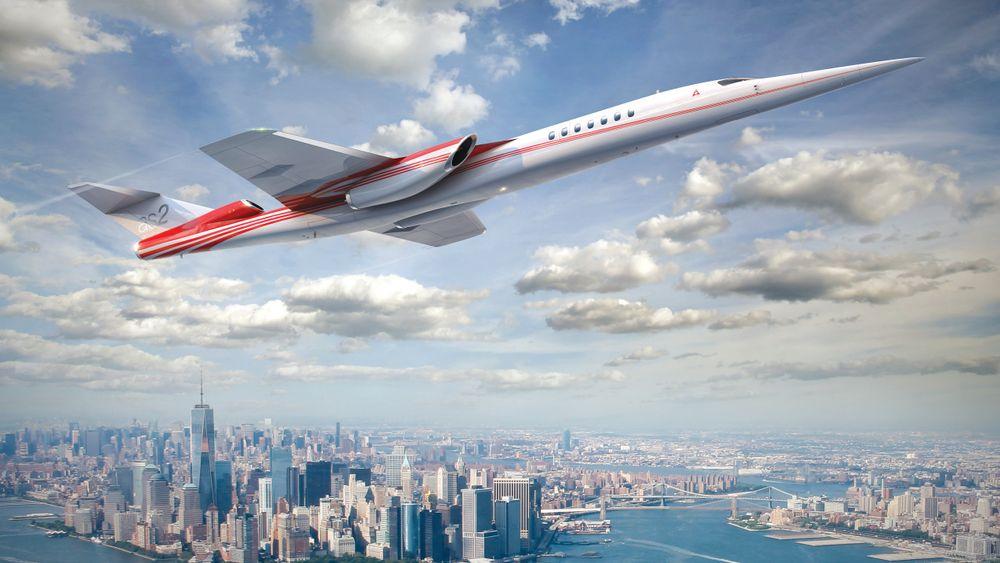 Aerion AS2 er konstruert for å frakte forretningsledere her fra New York til et møte i London og hjem igjen på samme dag.