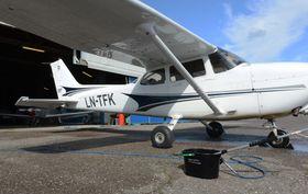 CESSNA: LN-TFK er en av maskinene i Tønsberg Flyveklubbs flypark.