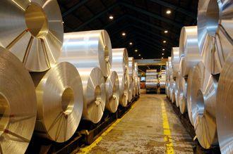 Valseverket: Hydros aluminiumsverk på Karmøy ble bygget som et integrert verk med både metallproduksjon og videreforedling. Dette er produkter fra valseverket.