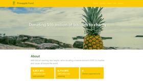 The Pineapple Fund gir bort enorme mengder Bitcoin-verdier til veldedige formål.