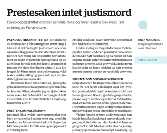 INTET JUSTISMORD, skrev tidligere Glåmdalen-redaktør Rolf Nordberg til tidsskriftet tidligere i år.
