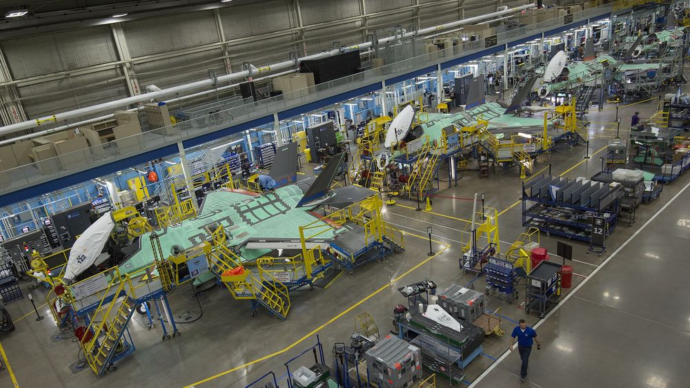 Fra Lockheed Martins F-35-fabrikk i Fort Worth i Texas.
