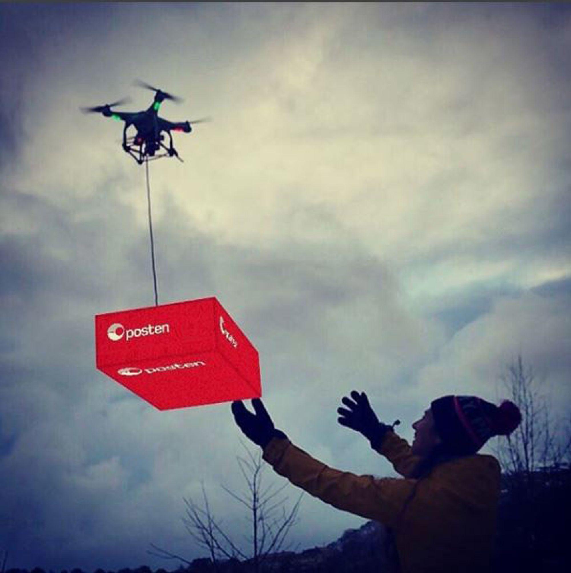 Robert Sasak tok i bruk både kreative evner og Postens nye AR-app. Dette ble vinnerbildet i Postens konkurranse.