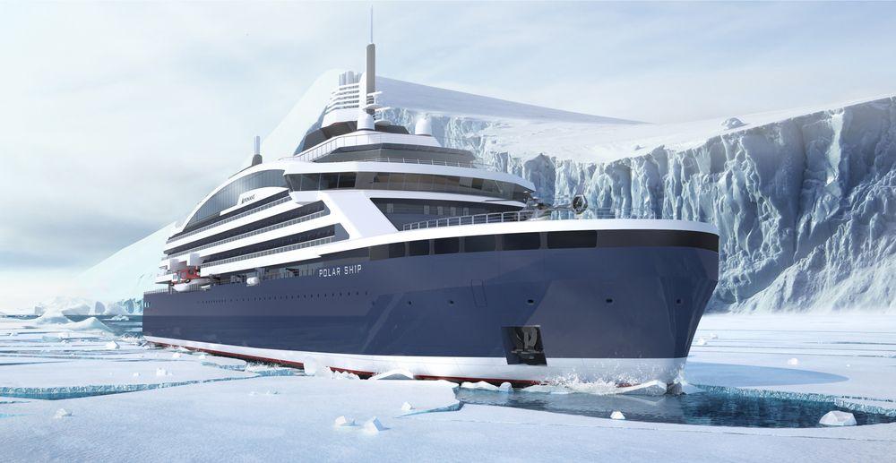 Vard skal levere verdens første isbrytende cruiseskip.Det skal tåle 3,5 meter tykk is og har plass til 270 passasjerer. Leveres til Ponant i 2021.