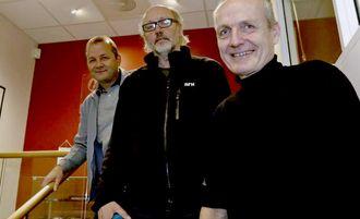 Samboere, fra venstre: Steinulf Henriksen (Folkebladet), Arild Moe (NRK Troms) og Torgeir Bråthen (Nordlys).