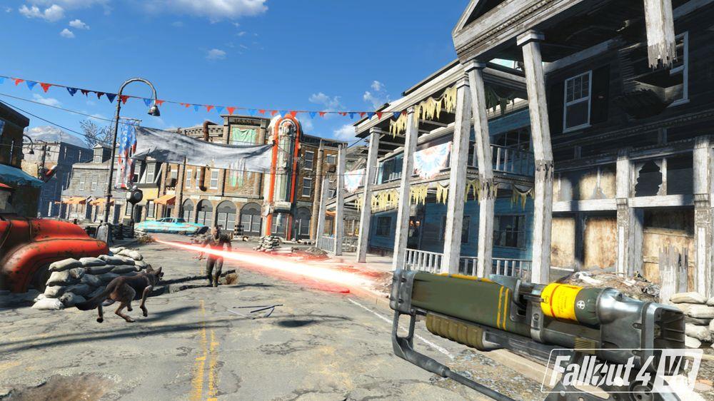 Ein frisk fargepallett gir det visuelle nytt liv, samanlikna med Doom VFR. Likevel, spelet ser ein del verre ut i VR enn på bileta.