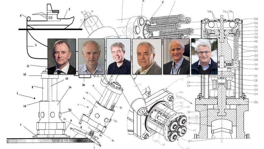 Her er nordmennene som er oppført som oppfinnere i flest norske patenter. F.v. Harald Syse, Knut Møgedal, Espen Hiorth, Egil Eriksen, Kjell Olav Stinessen og Per Olav Haughom.