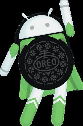«O-Hero» er tydeligvis maskoten til Android Oreo.