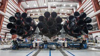 Rakettmotorene til Falcon Heavy.