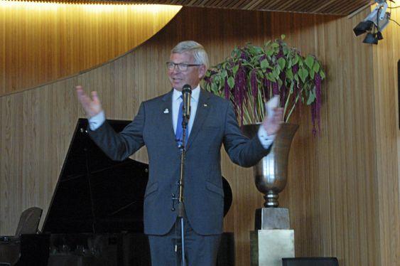 BURSDAGSBARN: – Jeg føler på en stor takknemlighet, sa Kjell Magne Bondeviks i hans offisielle mottakelse i forbindelse med hans 70-årsdag i september.
