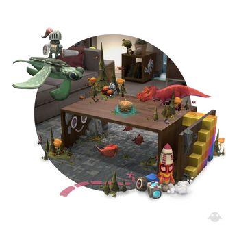 Med såkalt «mixed reality» kan virkeligheten blandes med virtuelle objekter. (Illustrasjon: Magic Leap)