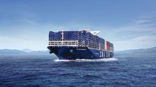 Verdens største containerskip skal gå på gass