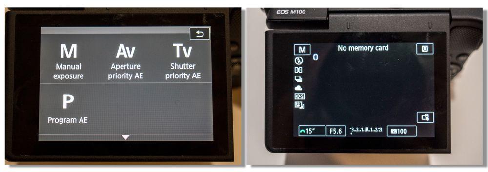 Manuelle kontroller finner du som regel på modushjulet på toppen av kameraet (se bildet av OM-D E-M10 III lengre opp), eller inne i en av menyene hvis kameraet ikker har eget modushjul.